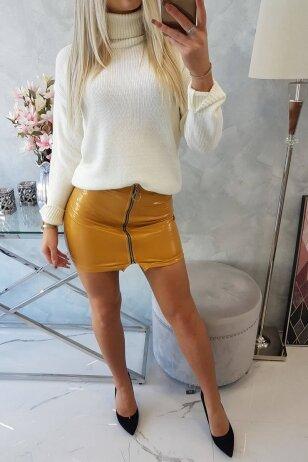 Garstyčių spalvos sijonas MOD788