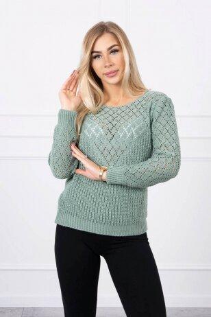 Tamsiai mėtinės megztinis MOD489
