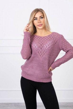 Violetinės spalvos megztinis MOD489