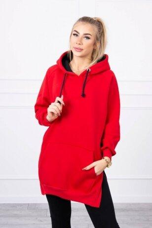 Raudona suknelė tunika MOD792