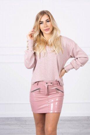 Rožinės spalvos sijonas MOD794