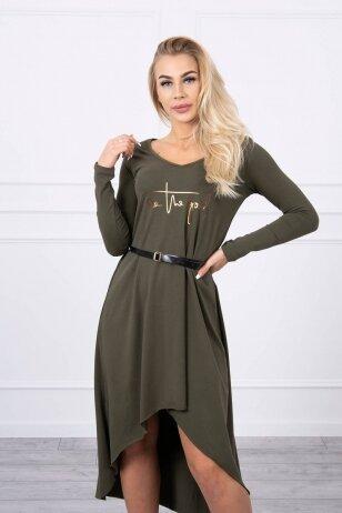 Chaki spalvos suknelė MOD782