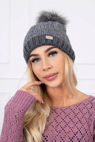 Grafito spalvos kepurė K179