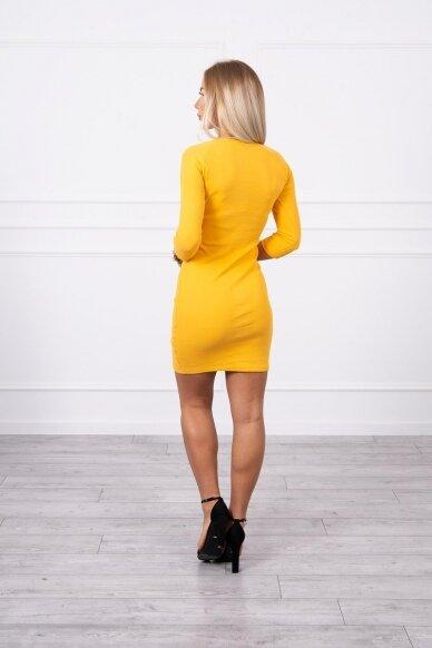 Garstyčių spalvos suknelė MOD703 2