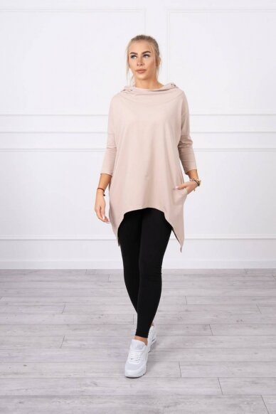 Smėlinės spalvos marškinėliai MOD779 3