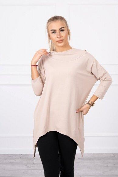 Smėlinės spalvos marškinėliai MOD779