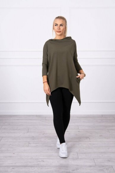 Chaki spalvos marškinėliai MOD779 3