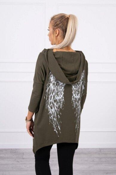 Chaki spalvos marškinėliai MOD779 2