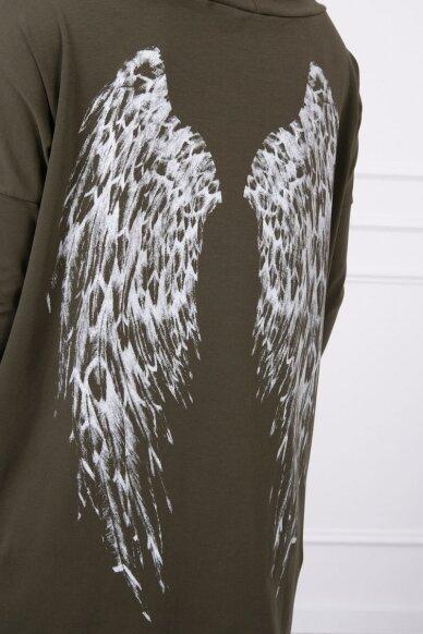 Chaki spalvos marškinėliai MOD779 4