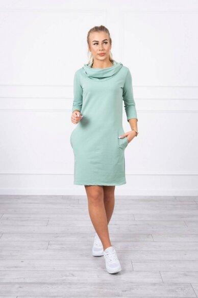 Tamsiai mėtinės spalvos suknelė MOD011 2