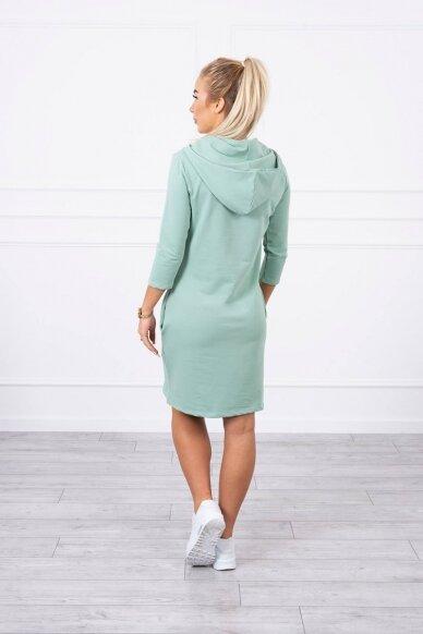 Tamsiai mėtinės spalvos suknelė MOD011 3
