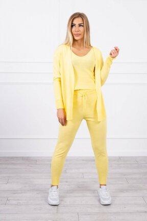 Geltonos spalvos moteriškas kostiumėlis MOD876