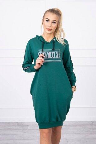 Žalia suknelė MOD747