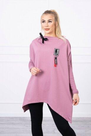 Tamsiai rožinės spalvos marškinėliai MOD450