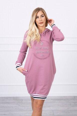 Tamsiai rožinė suknelė MOD097