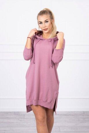 Tamsiai rožinė suknelė MOD685