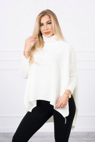 Nebalintos drobės spalvos megztinis MOD467