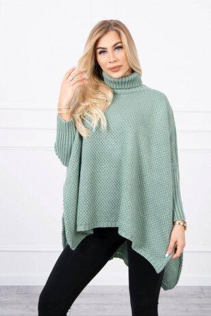 Tamsiai mėtinės spalvos megztinis MOD467