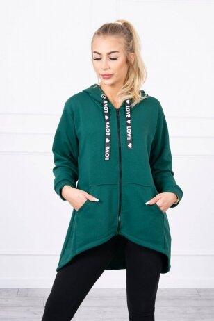 Žalios spalvos marškinėliai MOD733