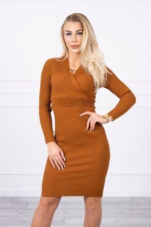 Ruda suknelė MOD805
