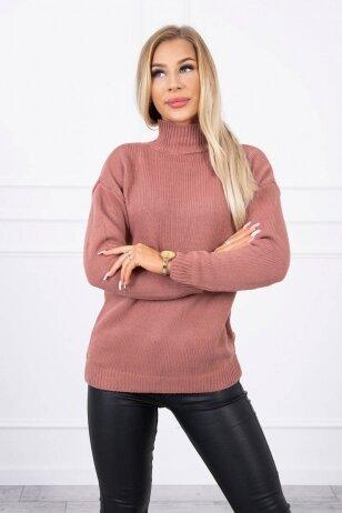 Tamsiai rožinės spalvos megztinis MOD781