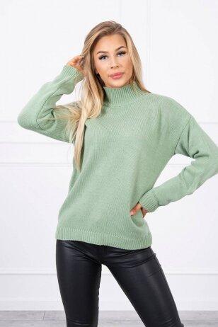 Tamsiai mėtinės spalvos megztinis MOD781
