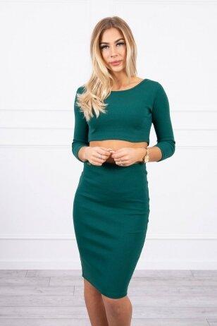 Žalias moteriškas kostiumėlis MOD693