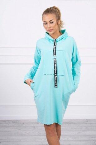 Mėtinės suknelė tunika MOD479