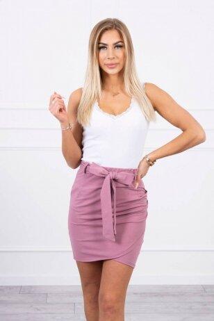 Tamsiai rožinės spalvos sijonas MOD268