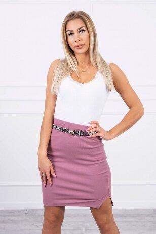 Tamsiai rožinės spalvos sijonas MOD690
