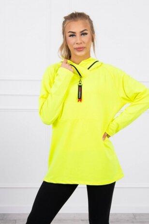 Neoninė geltona tunika MOD783