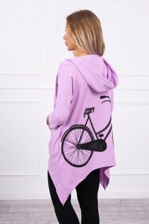 Violetinės spalvos marškinėliai MOD778