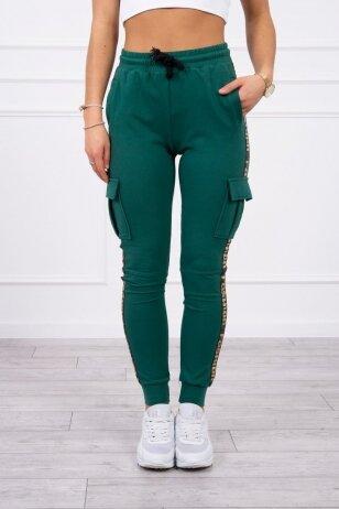 Žalios spalvos kelnės MOD508