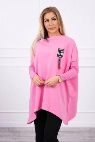 Šviesiai rožinės spalvos marškinėliai MOD450