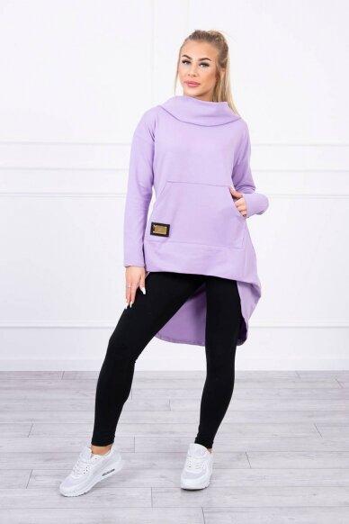 Šviesiai violetinės spalvos marškinėliai MOD755 3