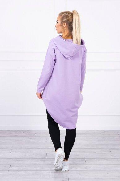 Šviesiai violetinės spalvos marškinėliai MOD755 2