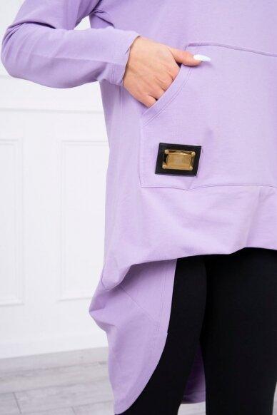 Šviesiai violetinės spalvos marškinėliai MOD755 4