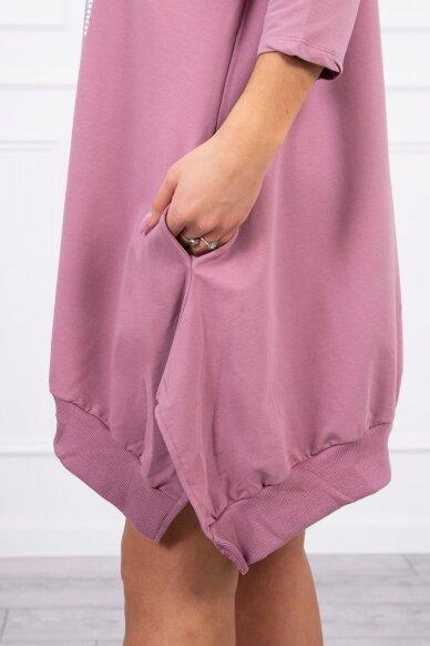 Tamsiai rožinė suknelė tunika MOD461 4