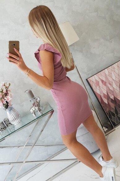 Tamsiai rožinė suknelė MOD706 4