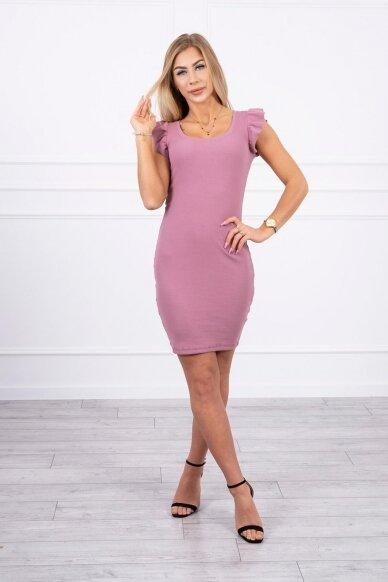 Tamsiai rožinė suknelė MOD706 6