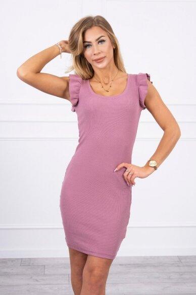 Tamsiai rožinė suknelė MOD706