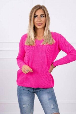 Neoninės rožinės spalvos megztinis MOD320