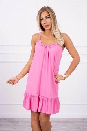Rožinė suknelė MOD708