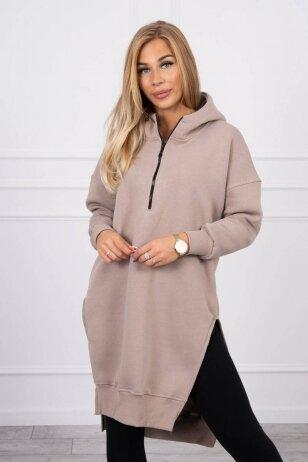 Smėlinės spalvos džemperis MOD1421