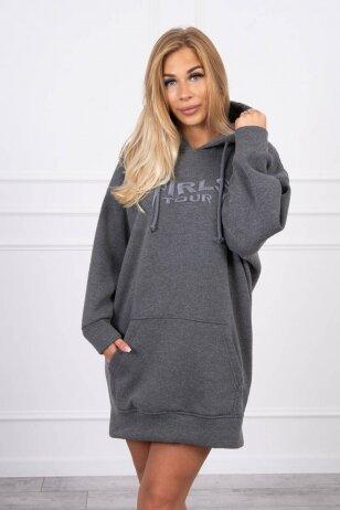 Grafito spalvos džemperis MOD1420