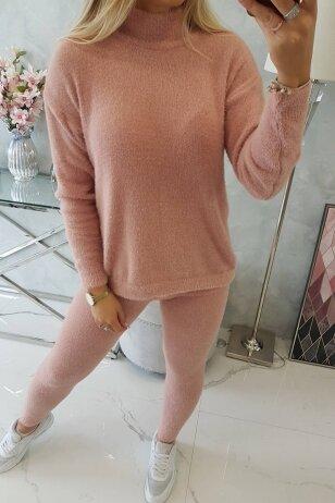Nude spalvos moteriškas kostiumėlis MOD1438