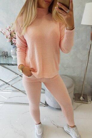 Šviesiai rožinis moteriškas kostiumėlis MOD1438