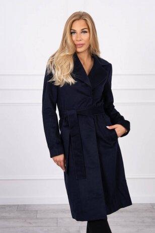 Tamsiai mėlynas paltas TIFFI MOD1459