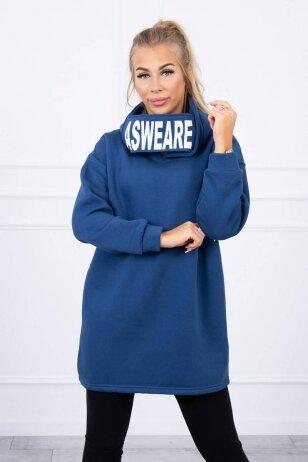Džinsinės spalvos džemperis MOD1472