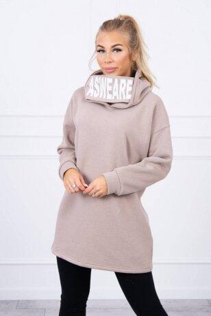 Smėlinės spalvos džemperis MOD1472